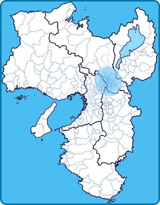営業エリアの地図